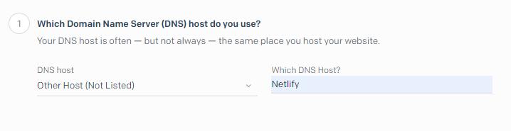 Choosing DNS