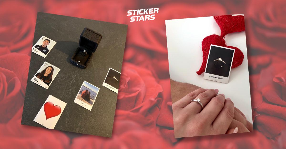 Ideen für Heiratsantrag: Mit individuellen Stickern