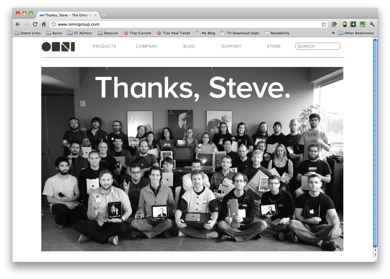 Omni Group tribute to Steve Jobs