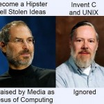 Dennis Ritchie and Steve Jobs