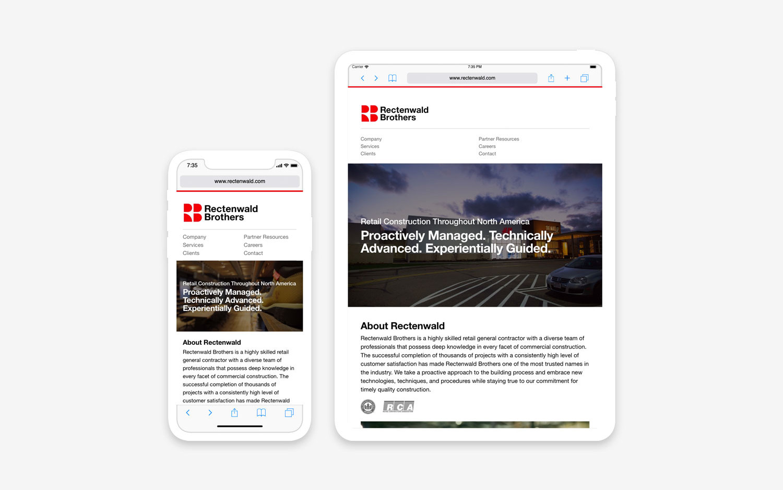 Rectenwald website - mobile/tablet view
