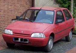 A Red Citroen AX