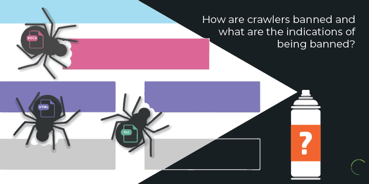 How are crawlers banned and what are the indications of being banned?