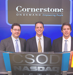 Cornerstone founders at NASDAQ podium