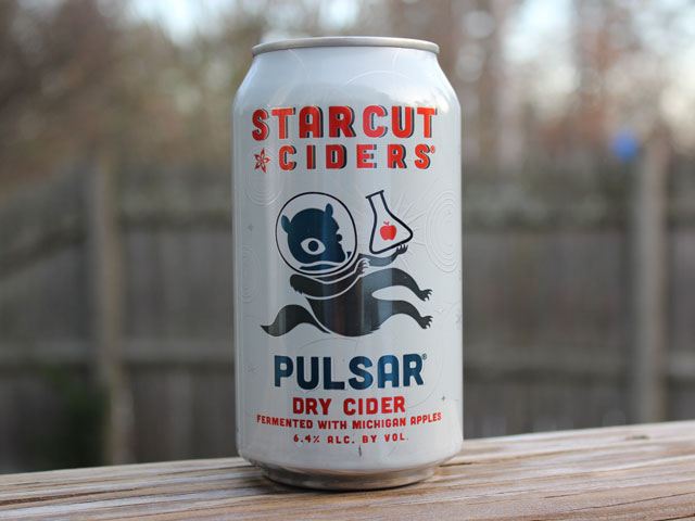 Pulsar, a Hard Cider brewed by Starcut Ciders
