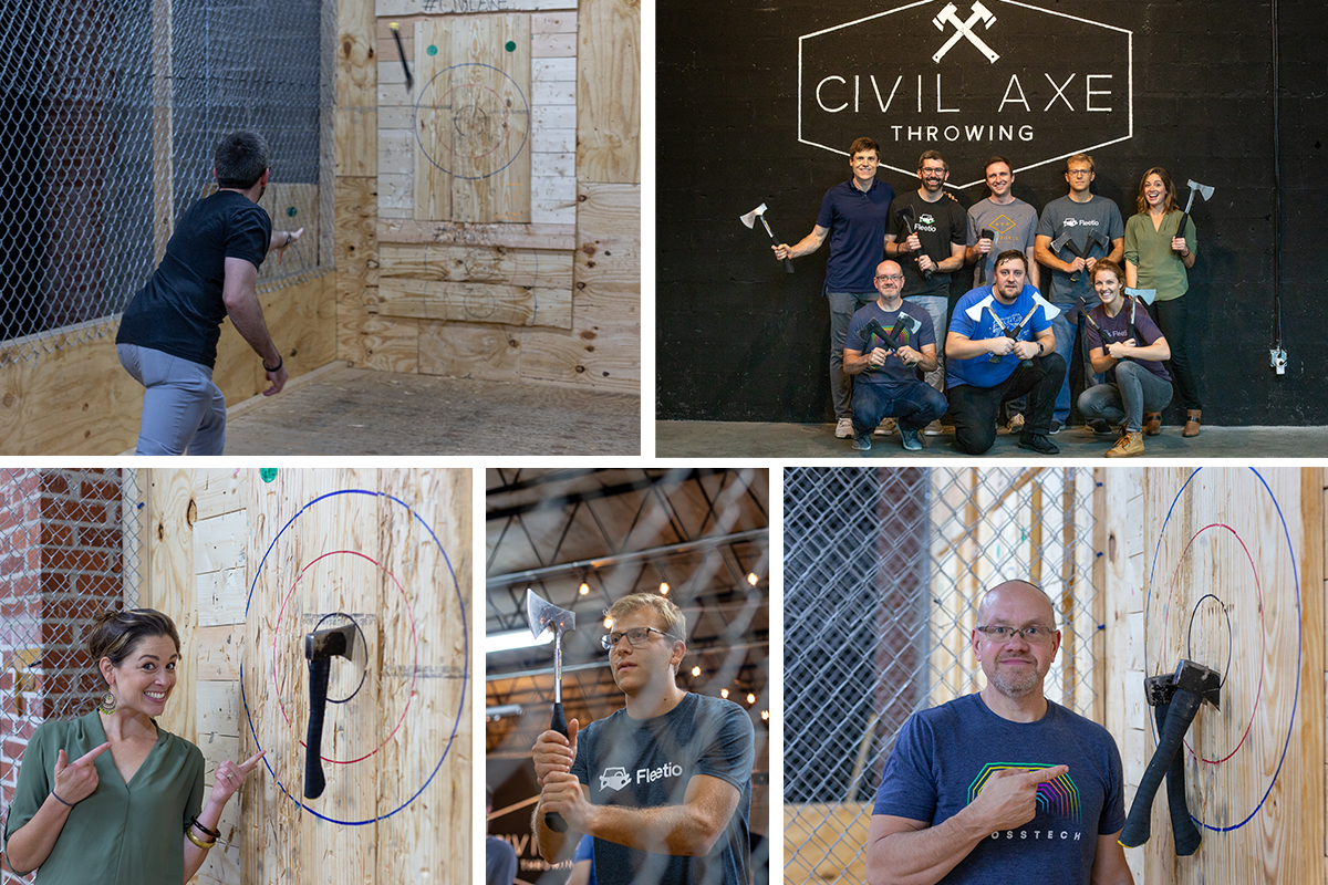 Fleetio Fall 2018 Fleet Week Axe Throwing