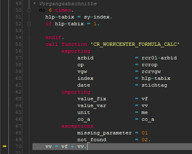 There you are `CR_WORKCENTER_FORMULA_CALC`