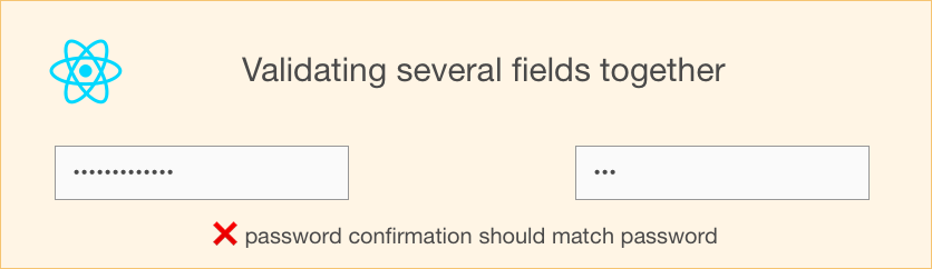 How to handle validations involving several fields?