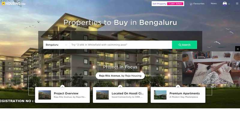 Housing.com screenshot
