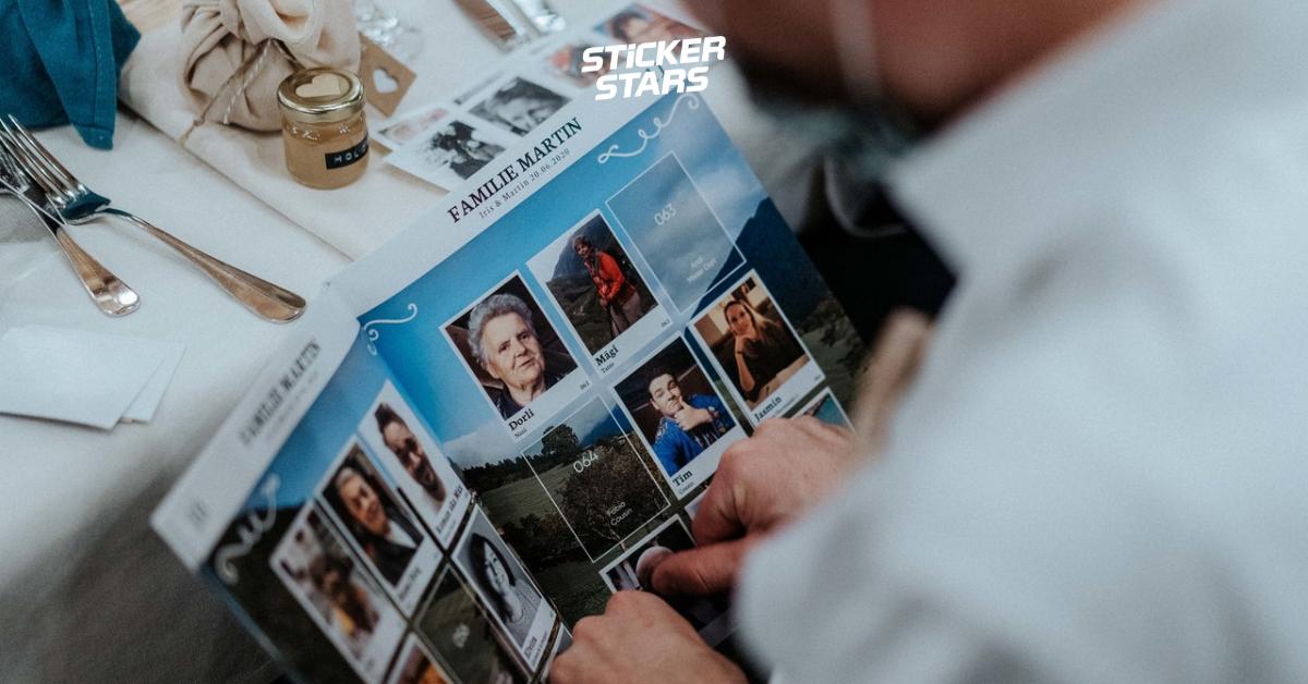 Hochzeits-Stickeralbum: Das Heft zum sammeln