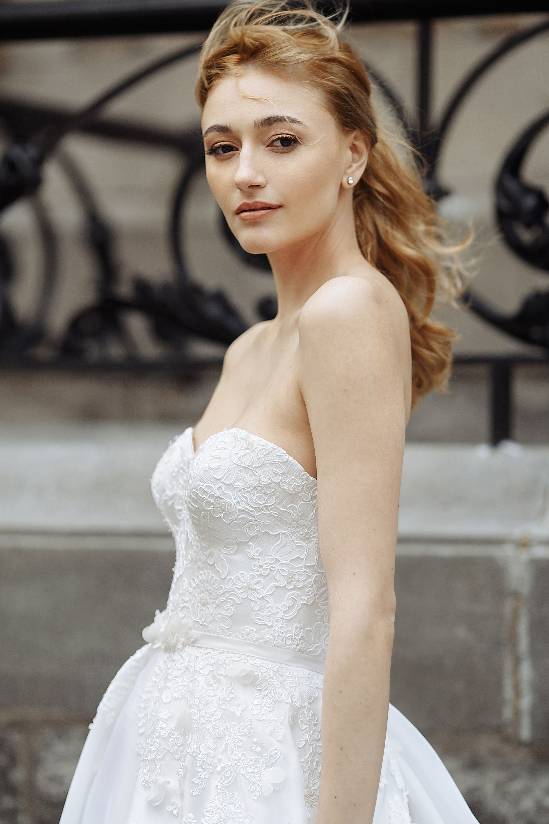 silk wedding dress montreal lilia haute couture