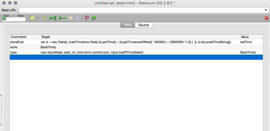 Selenkum javascript EST time