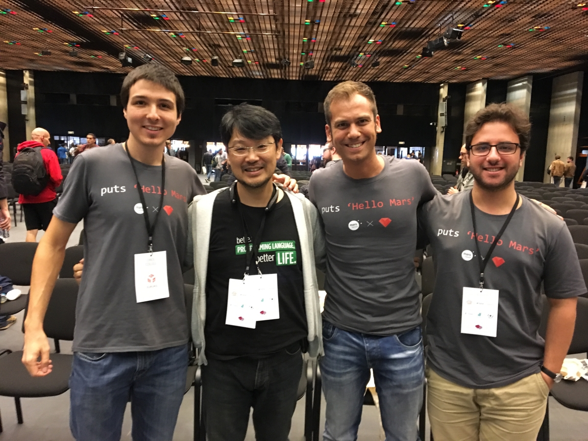 MarsBased team With Matz, Creator of Ruby