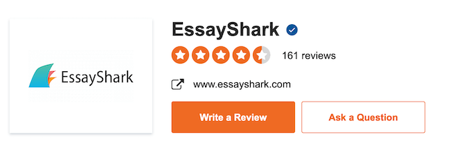essayshark.com has rating of 4.5 stars on sitejabber