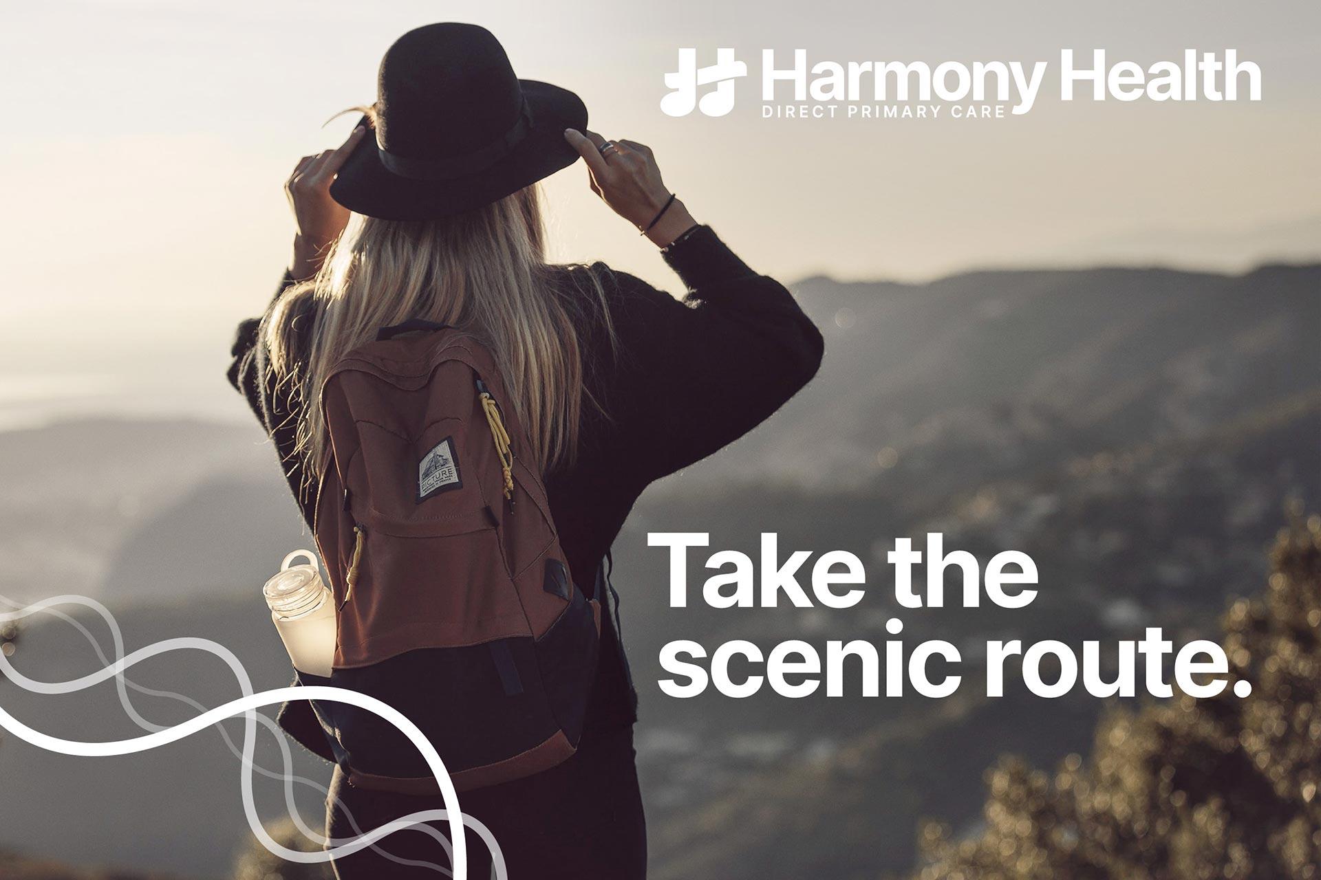 A hero image to assist the Harmony Health marketing efforts.