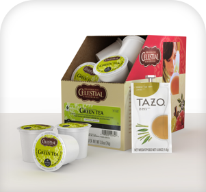 Single Serve teas and beverage K-Cups