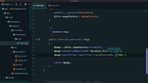 Set an admin page menu & title