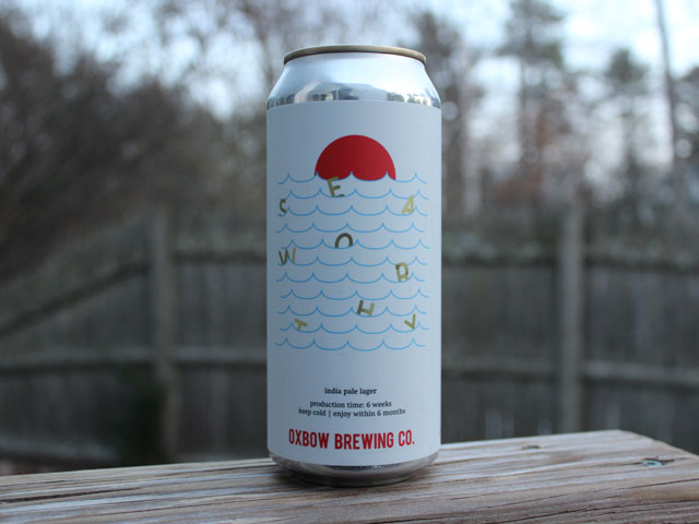Seaworthy, a IPA brewed by Oxbow Brewing Company