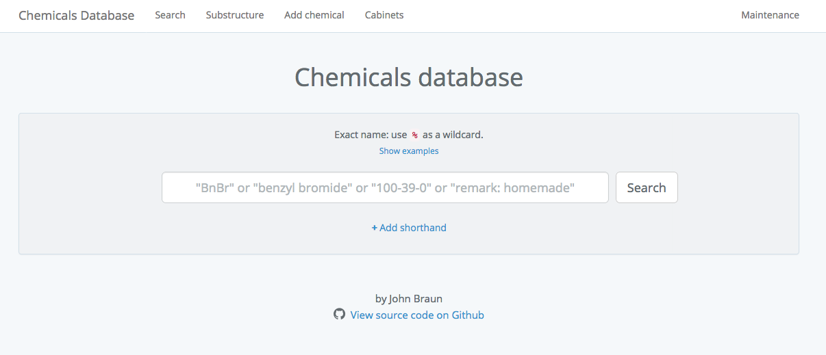 Chemical Inventory Database