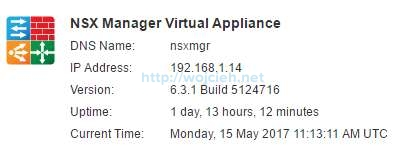Upgrade of NSX 6.2.4 to NSX 6.3.1 - 5