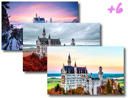 Bavarian Castle Neuschwanstein theme pack