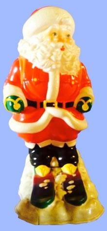 Skiing Santa photo