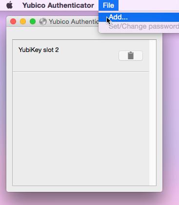 YubiKey menubar