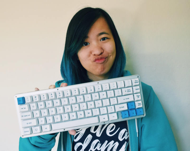 Tiny with keyboard
