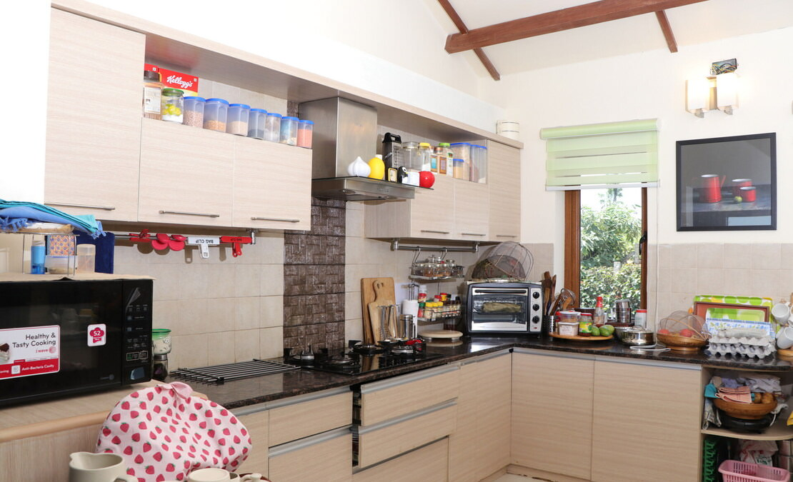 Kitchen of the house with modern fixtures