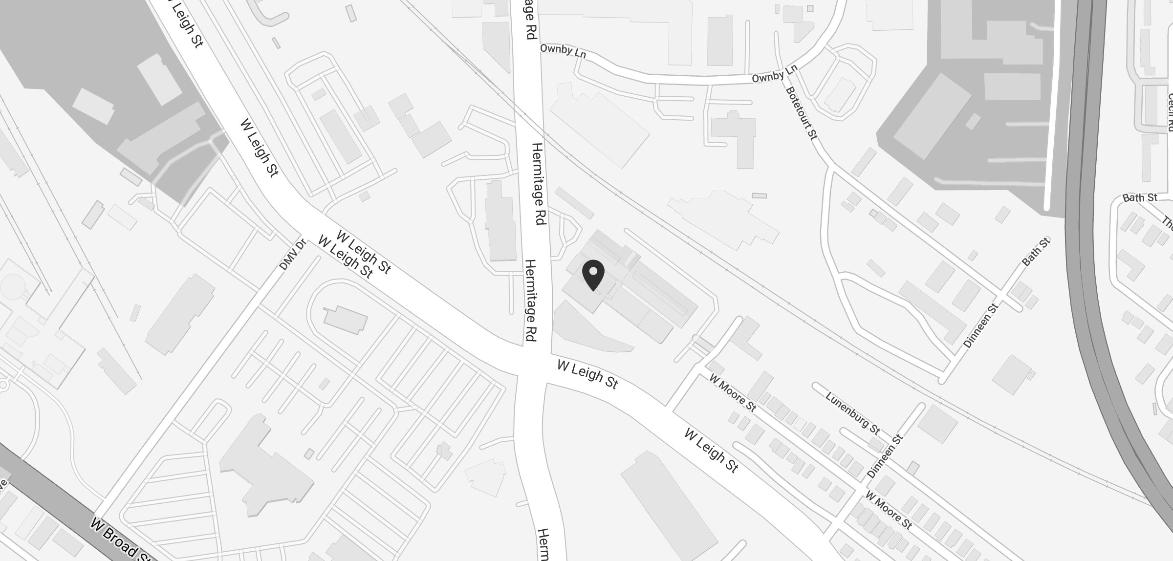 A snippet of a map to Southern Stove Lofts