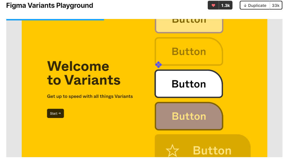 A screenshot of the official Figma Variants Playground file.