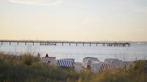 Der Strand der Insel Binz mit eigenem Strandkorb für Sie