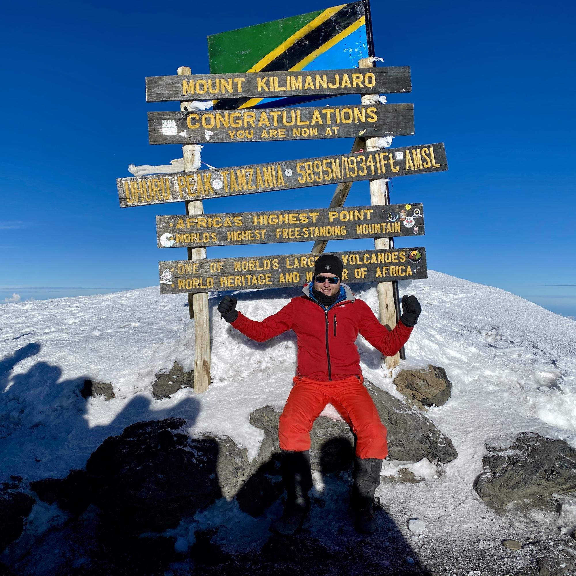 Summit photo of me