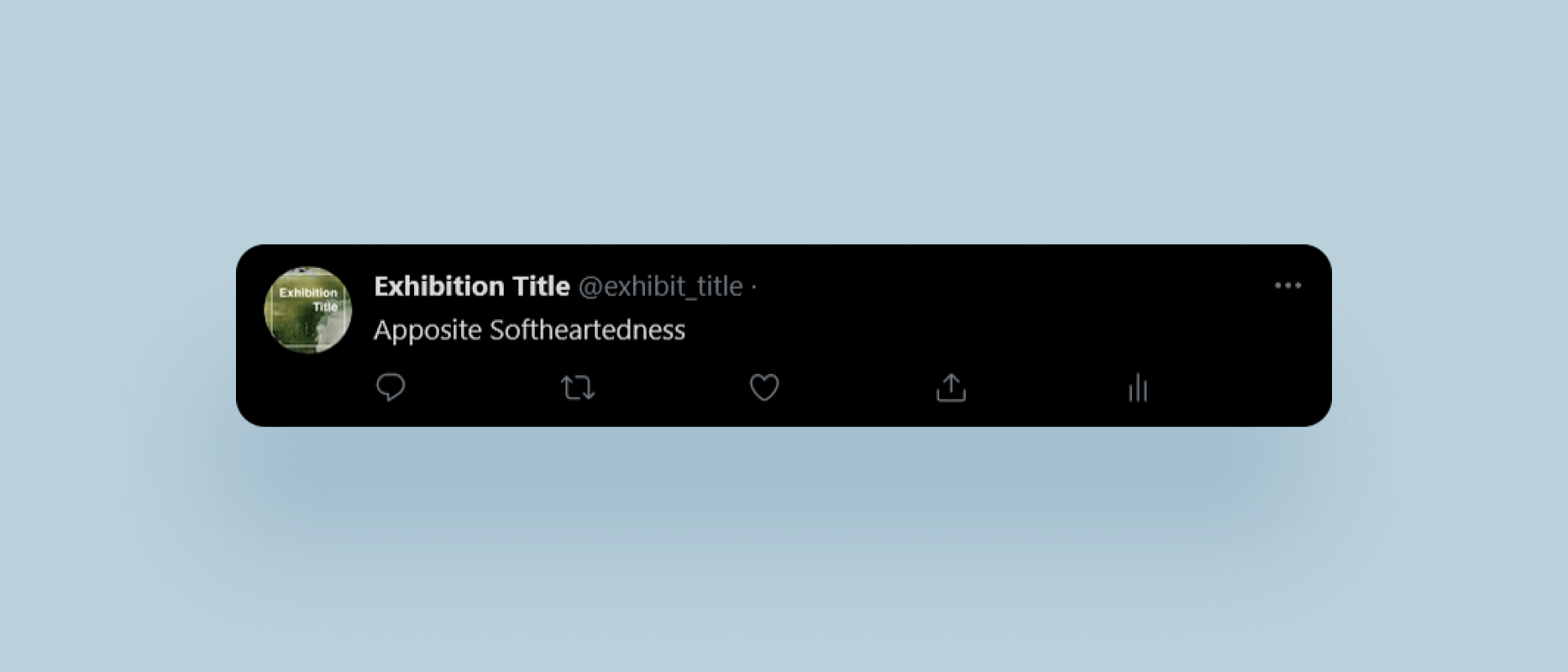 Single tweet from the bot reading 'Apposite Softheartedness'