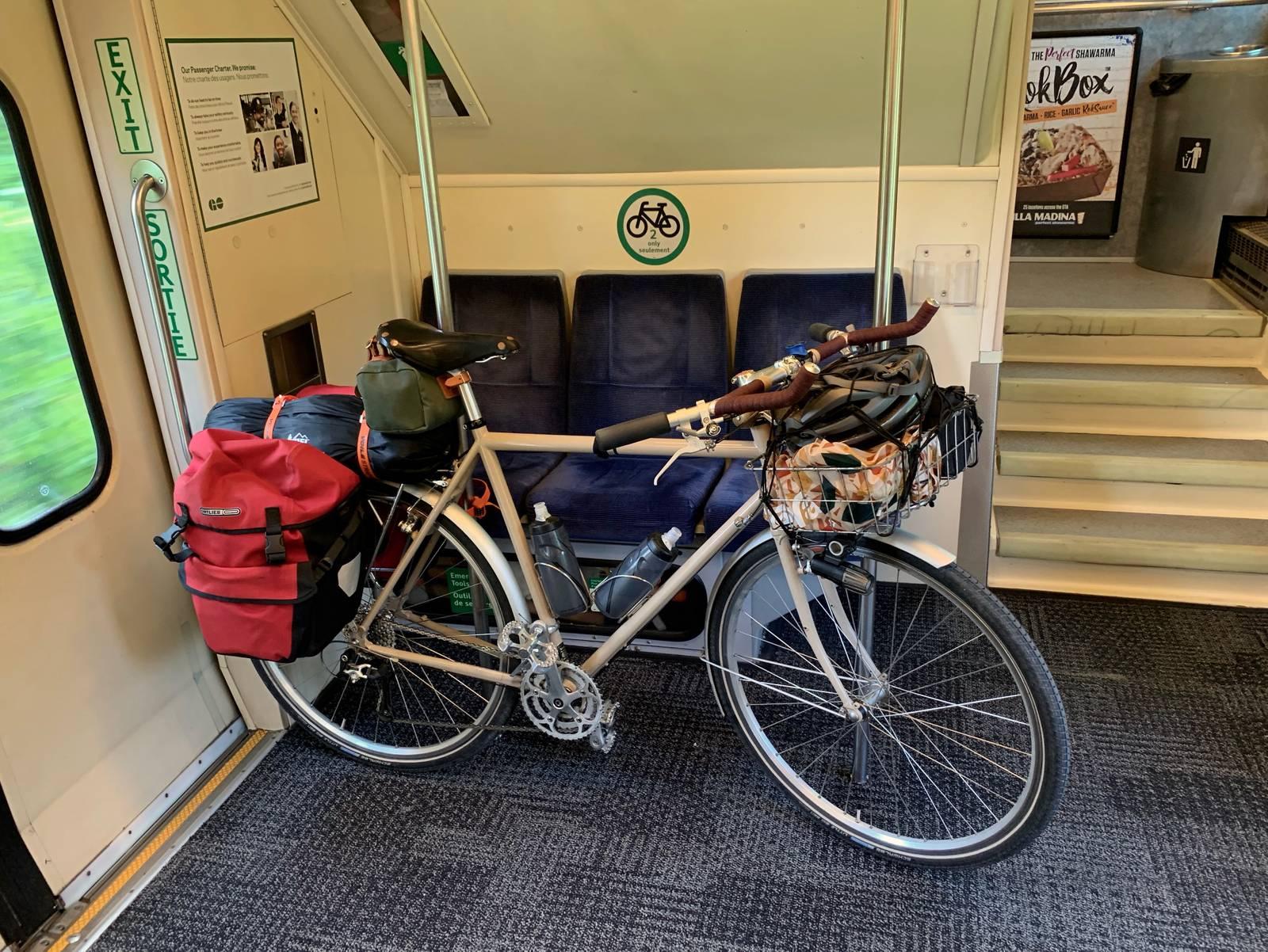 My bike on the GO Train