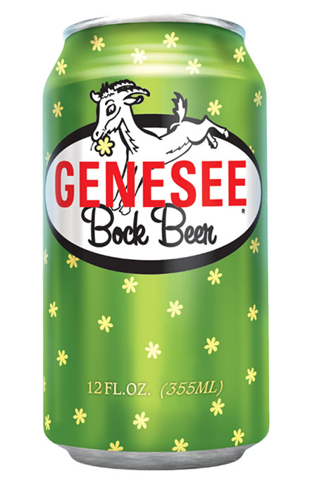 Genesee Bock Beer can