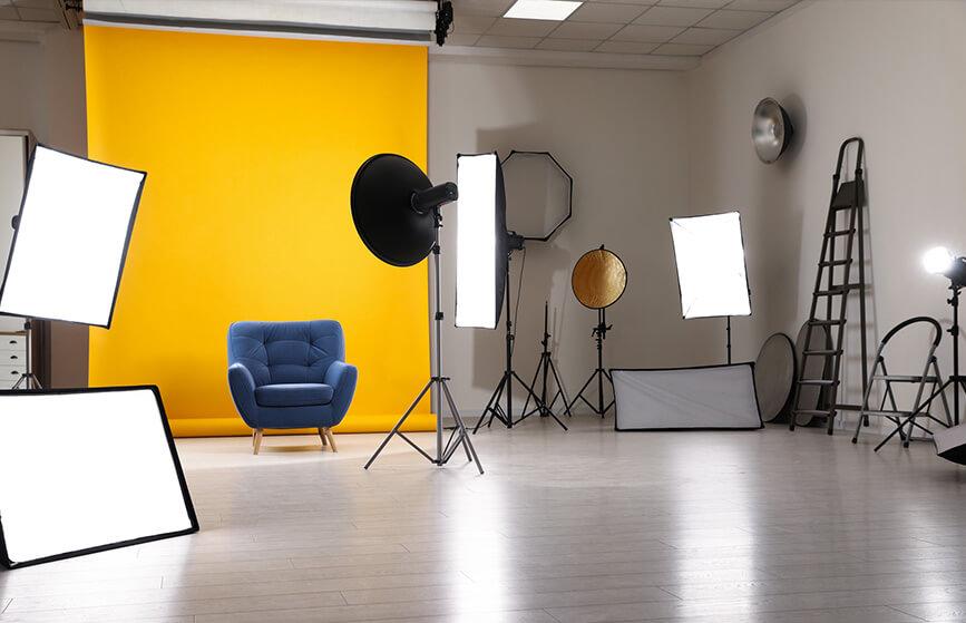 Studio de photographe professionnel
