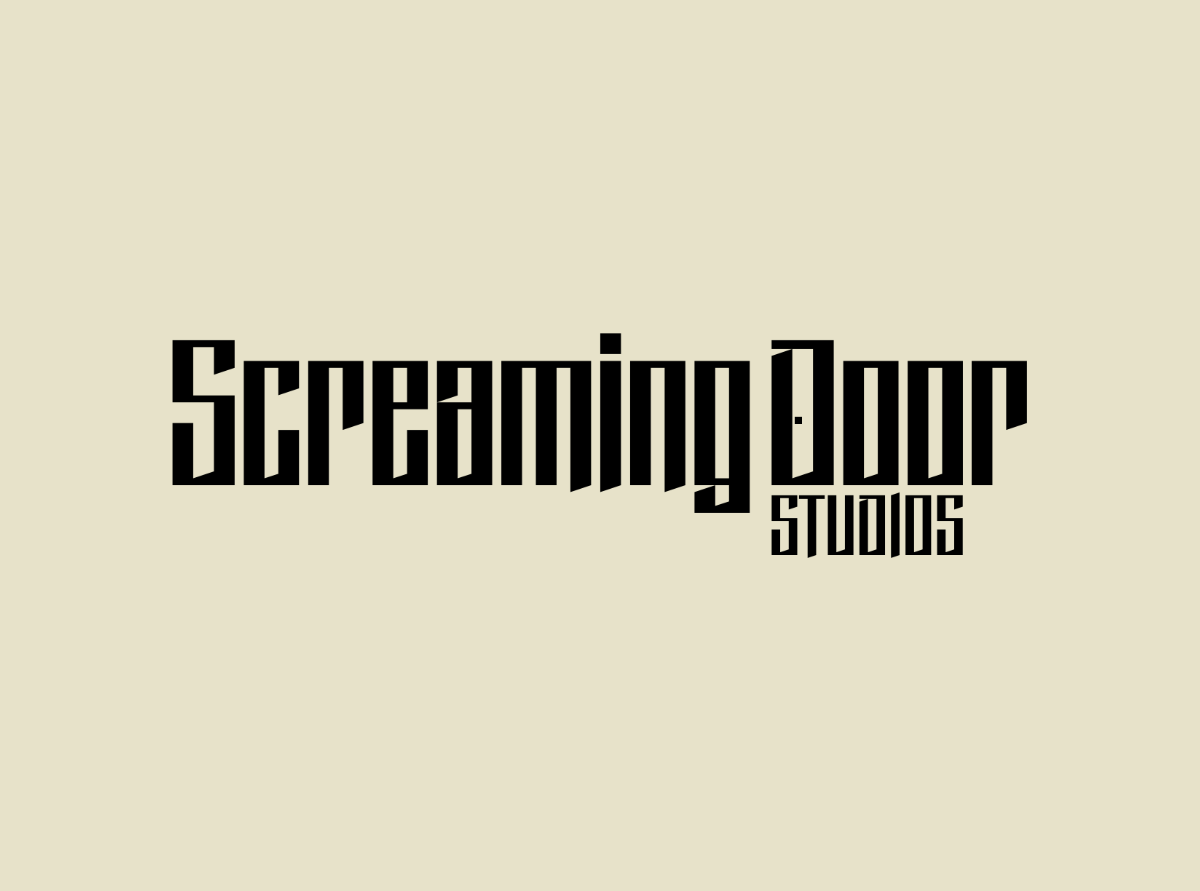 Screaming Door logo renderings.