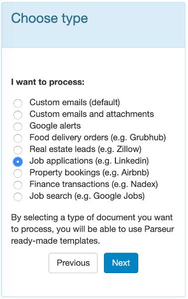 Select Job applications