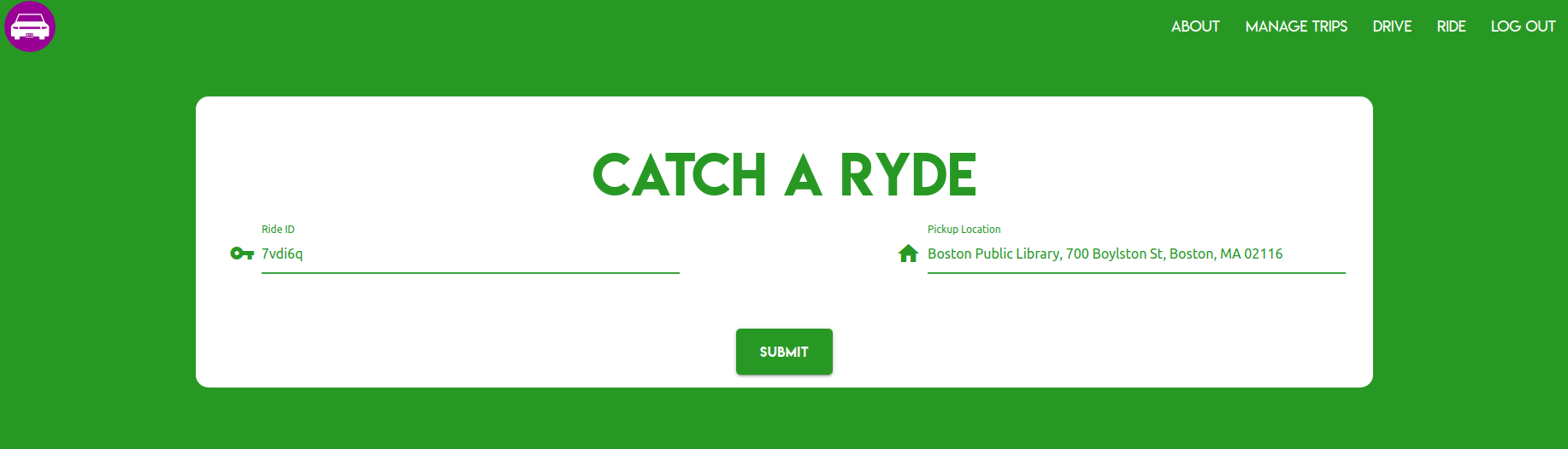 Catching a Ryde