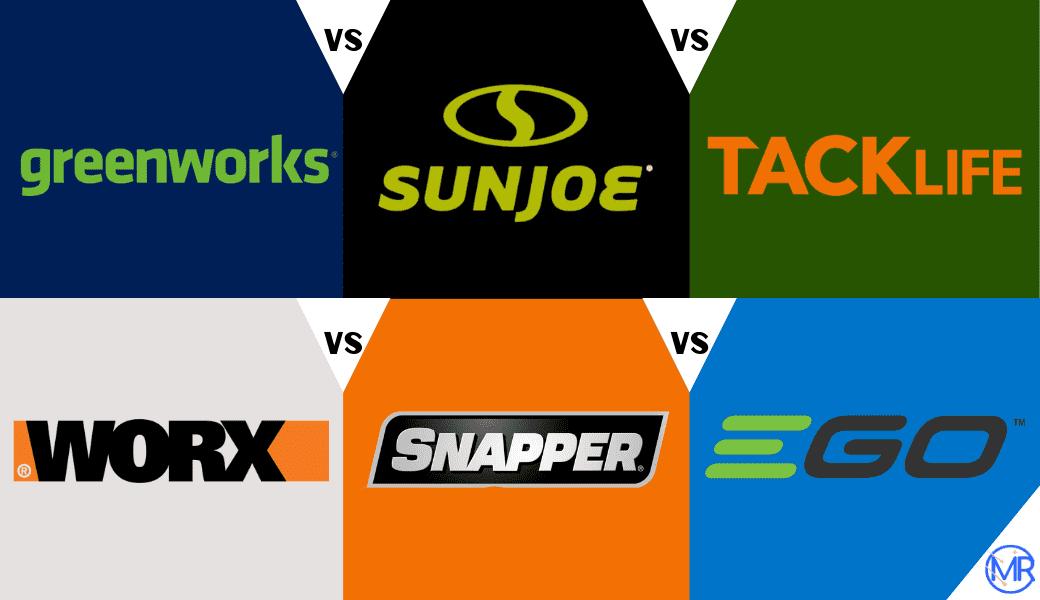greenworks vs Sunjoe vs Tacklife vs Worx vs Snapper vs GO - Cover Image
