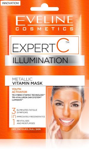 EVELINE EXPERT C 3 az 1-ben bőrvilágosító arcmaszk 2 x 5 ml