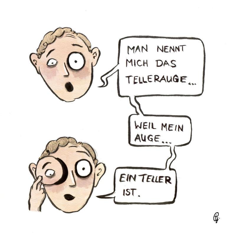 Tellerauge
