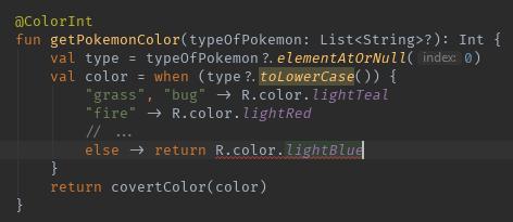 The error in the IDE