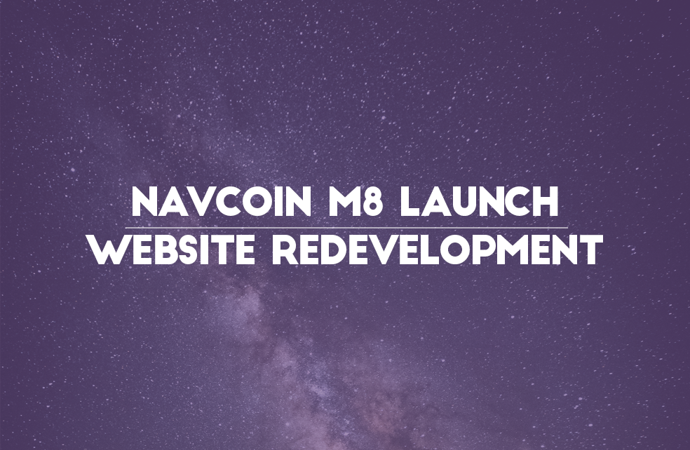 NavCoin m8 Launch And Website Redevelopment