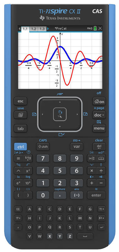 The TI-Nspire CX II CAS graphing calculator