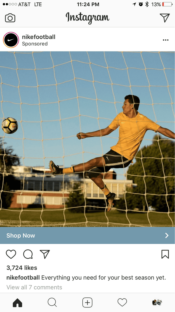 Nike insta ad