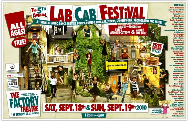Where's Praxis? Can you find Tara, Margaret and Michael in the Lab Cab poster?