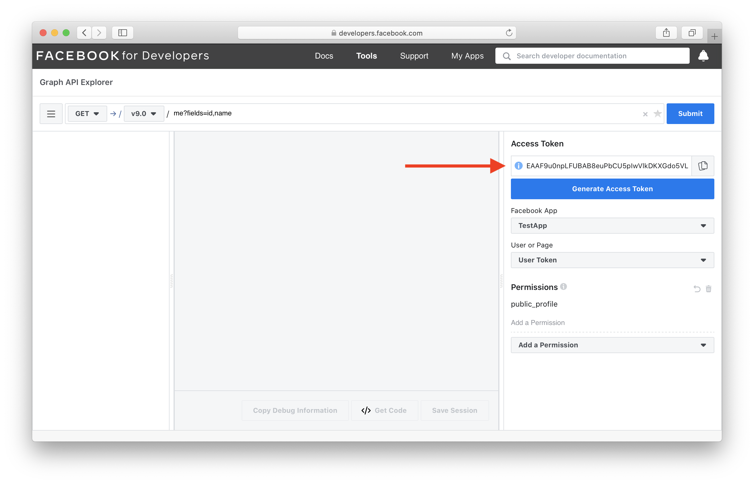 Generate access token for users logged in with Facebook