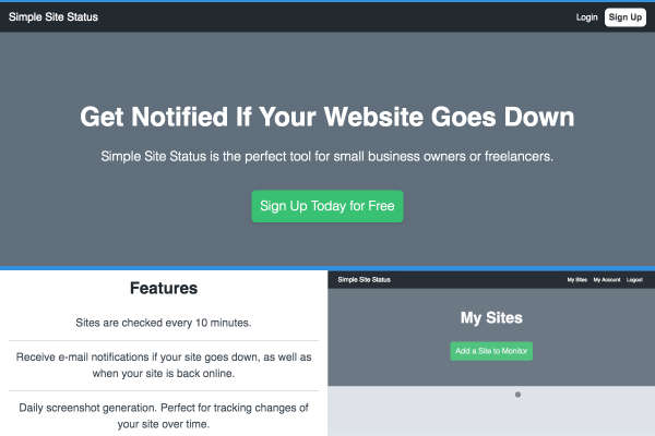 Simple Site Status